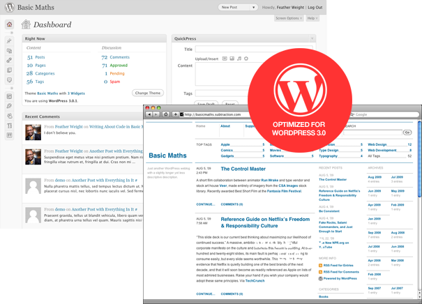 Basic Maths: a theme for WordPress